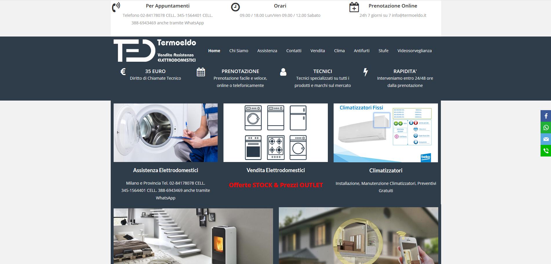 Termoeldo Assistenza ELETTRODOMESTICI Multimarca Milano